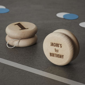 Personalised Birthday Keepsake Wooden Yoyo - baby & child sale