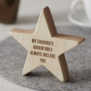 Personalised Wooden Star For Dad - decorative letters