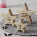 Personalised Family Wooden Star Keepsake