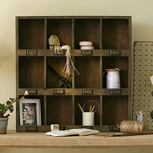 Wooden Storage Unit - shelves