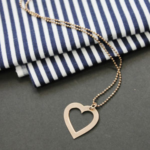 Personalised Engraved Loveheart Necklace