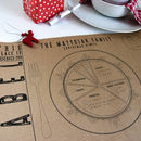 Personalised Kraft Paper Christmas Place Mats