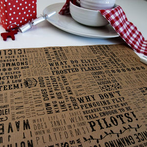 Christmas Jokes Kraft Placemat - kitchen