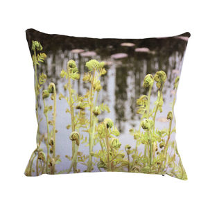 Bespoke Green Fern Handmade Pair Of Cushions