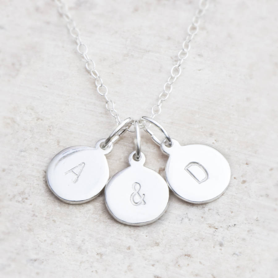 tiny stamped initial the product charm pendant sterling silver thejewelleryboutique jewellery original necklace by disc