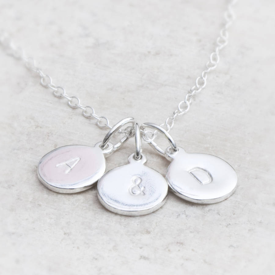 discs for stamped from with products hand personalized women necklace disks