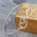 Infinity Sterling Silver Heart Bangle