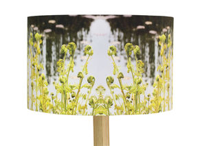 Bespoke Handmade Lampshade Green Fern Design - bedroom