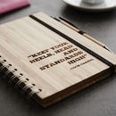 Personalised Quote Wooden Notebook Set For Her