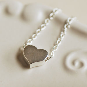 Delicate Sterling Silver Heart Necklace - flower girl jewellery