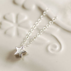 Delicate Sterling Silver Star Necklace - celestial jewellery
