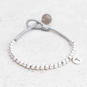 Ulrika Silver Bead Personalised Bracelet - wedding jewellery
