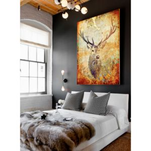 Deer Hunter, Canvas Art - animals & wildlife