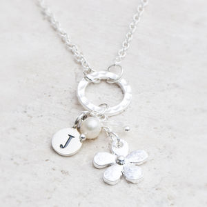 Christie Personalised Flower Pendant Necklace