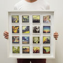 Personalised Large 3D Box Framed Print