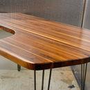 Desk Solid Black Walnut L Shape Mid Century Modern
