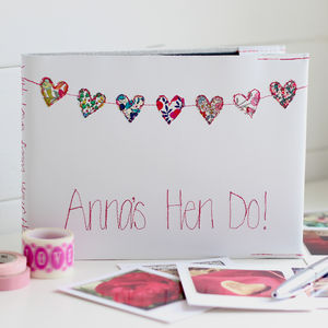 Personalised Hen Party Journal - hen party styling