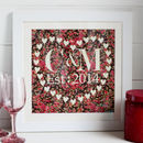 Personalised Monogram Fabric Heart Picture