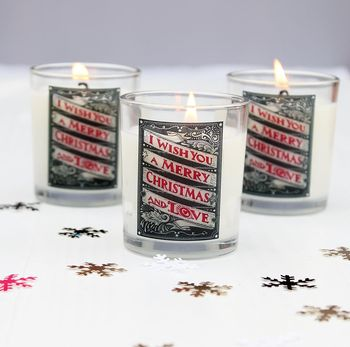 Christmas Scented Candles Set Of Three