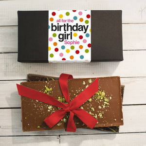 Birthday Chocolate Bars Box Gift Set - personalised gifts for foodies