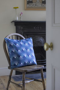 A Blue 'Rakish' Cushion - cushions