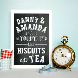 Personalised Biscuits And Tea Print