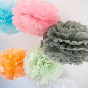 Large Tissue Paper Pom Pom - summer parties