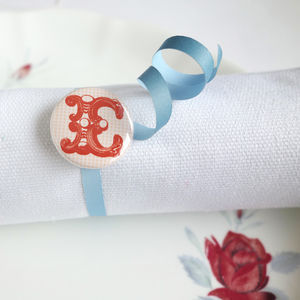 Alphabet Initial Magnet Or Badge Favour - table decorations
