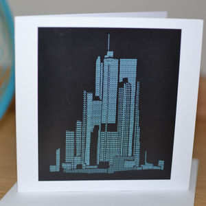 New York By Numbers Greeting Card