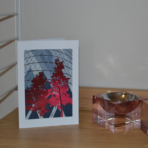 Gherkin And Trees Greeting Card