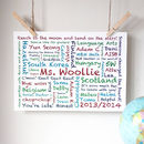 Personalised Teacher Memories Print