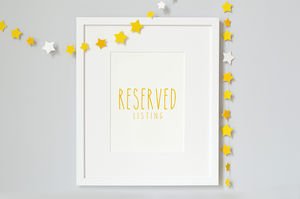 Reserved Frame For Sarah - children's room