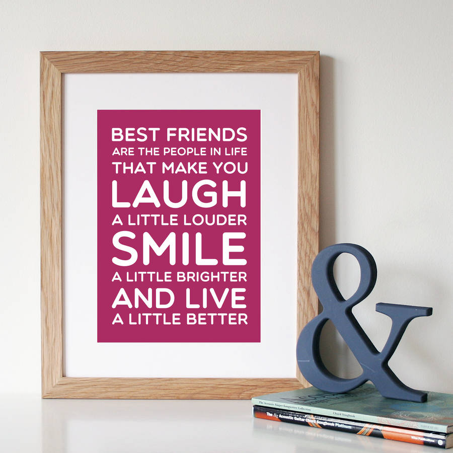 Friendship Picture Frames With Quotes: 'best Friends' Quote Print By Hope And Love