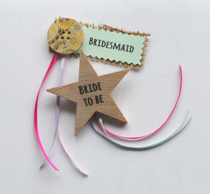 Personalised Hen Do Badge - hen party gifts & styling