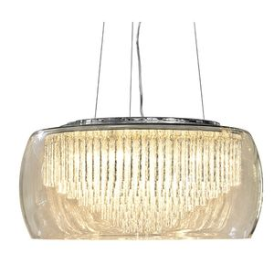 Glass Shade Contemporary Chandelier Ceiling Light - living room