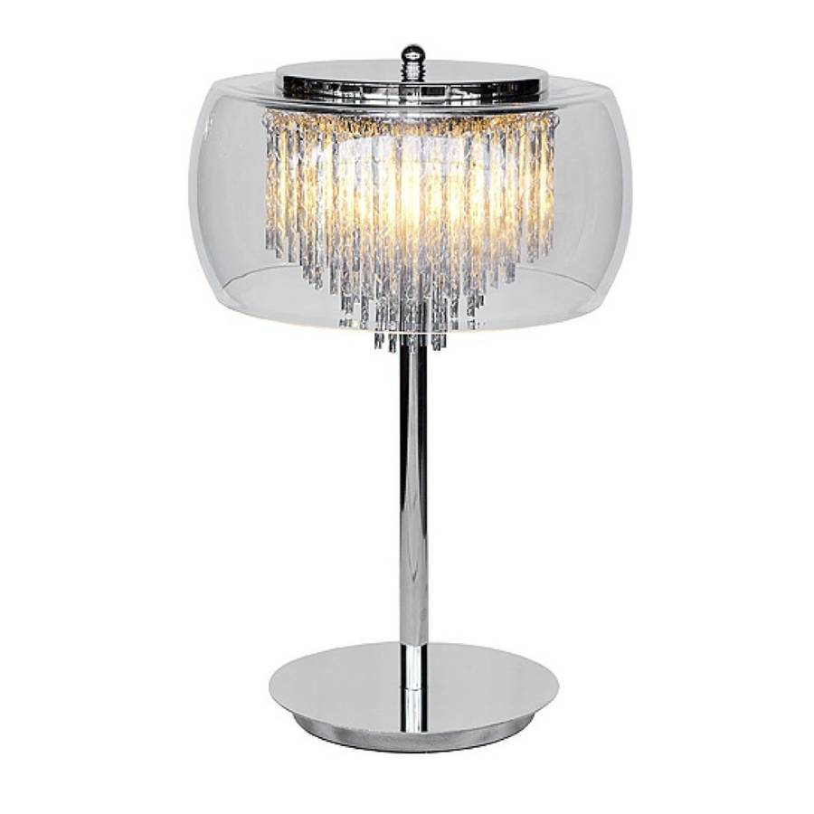 Chandelier Table Lamps: Glass Shade Contemporary Chandelier Table Lamp By The Luxe