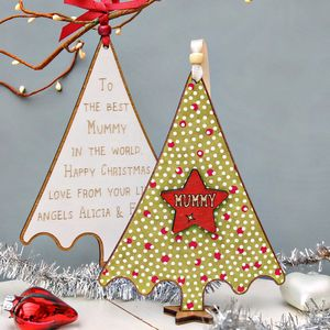 Personalised Xmas Tree Decoration Keepsake - cards