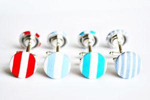 Handmade Stripey Cufflinks - men's jewellery