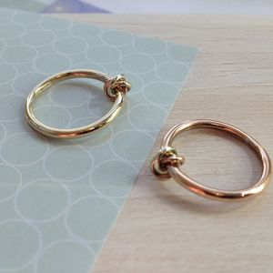 Eternity 9ct Gold Knot Ring - rose gold jewellery