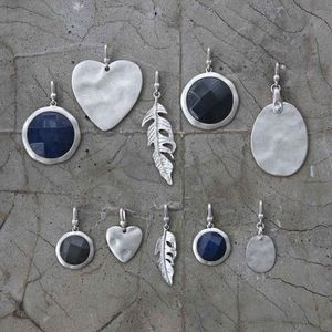 Antique Silver And Natural Stone Charms