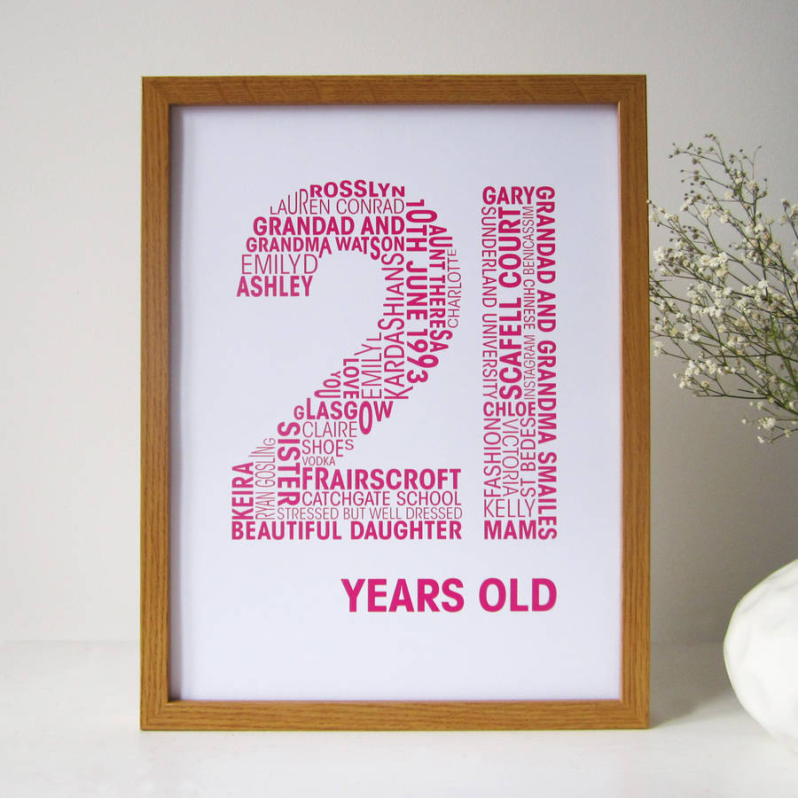 Personalised Birthday Print By Mrs L Cards