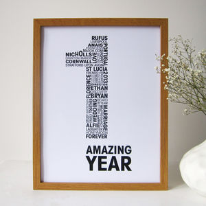 Personalised Anniversary Print - 100 best wedding prints