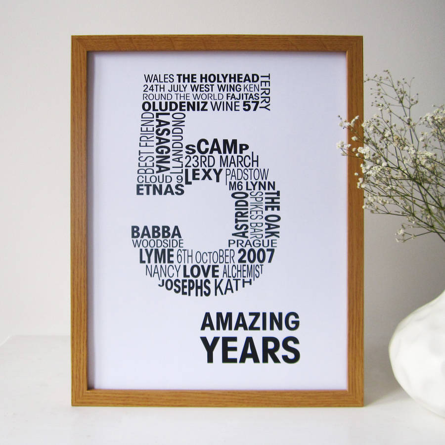 Personalised Anniversary Print By Mrs L Cards