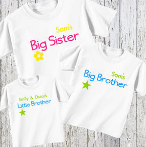Personalised Brother And Sister Set For Three - outfits & sets