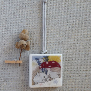 Woodmouse Hanging Decoration - decorative accessories