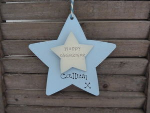 Personalised Christening Wooden Keepsake Sign