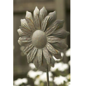 Metal Sunflower Windmill - art & decorations