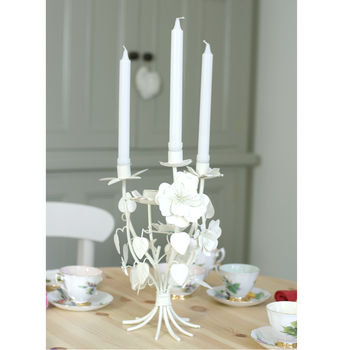 Vintage Candelabra with Corsage Flowers