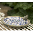 Thumb blue and white aged ceramic bird bath