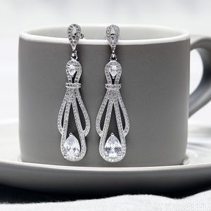 1920s Style Crystal Earrings - earrings